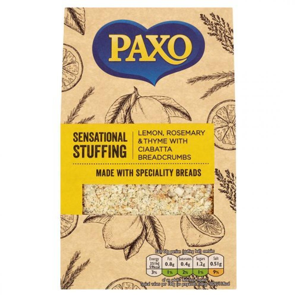 Paxo Lemon Rosemary And Thyme And Ciabatta Stuffing Mix 110g
