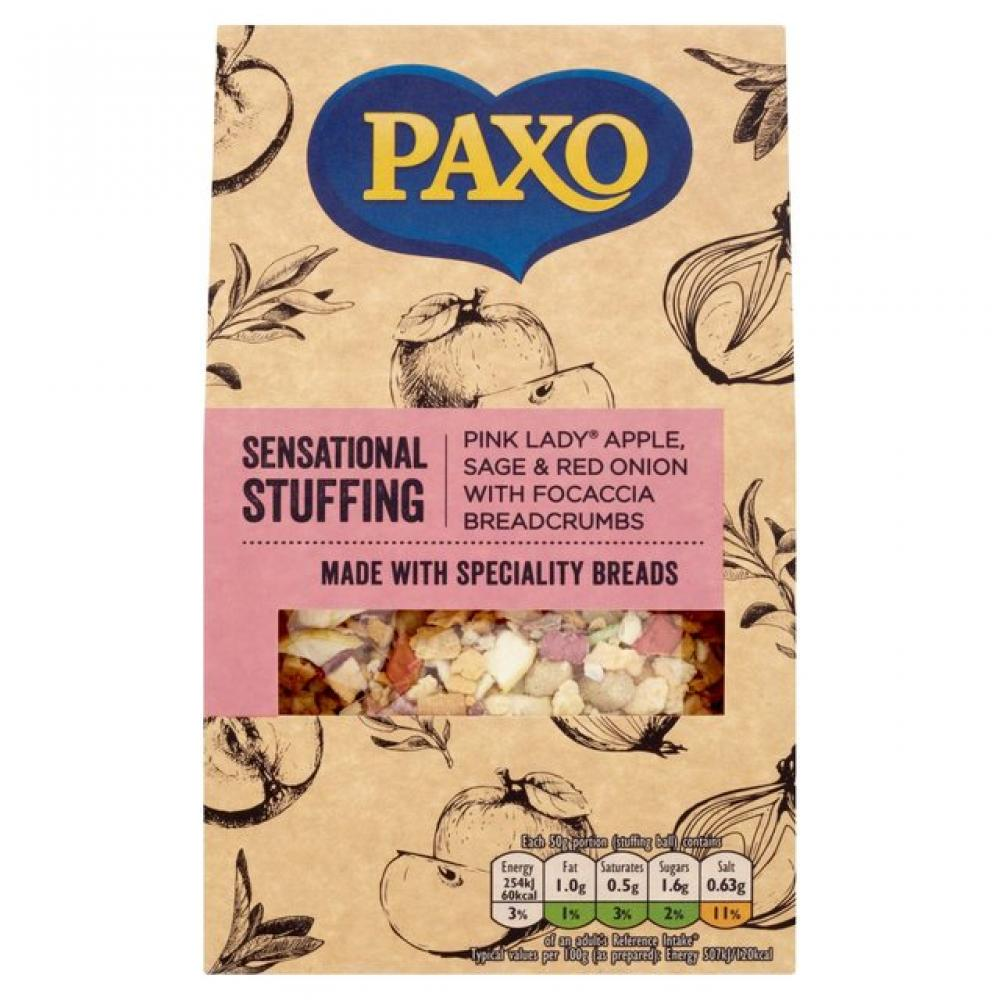 Paxo Sensational Stuffing Pink Lady Apple Sage and Red Onion 110g
