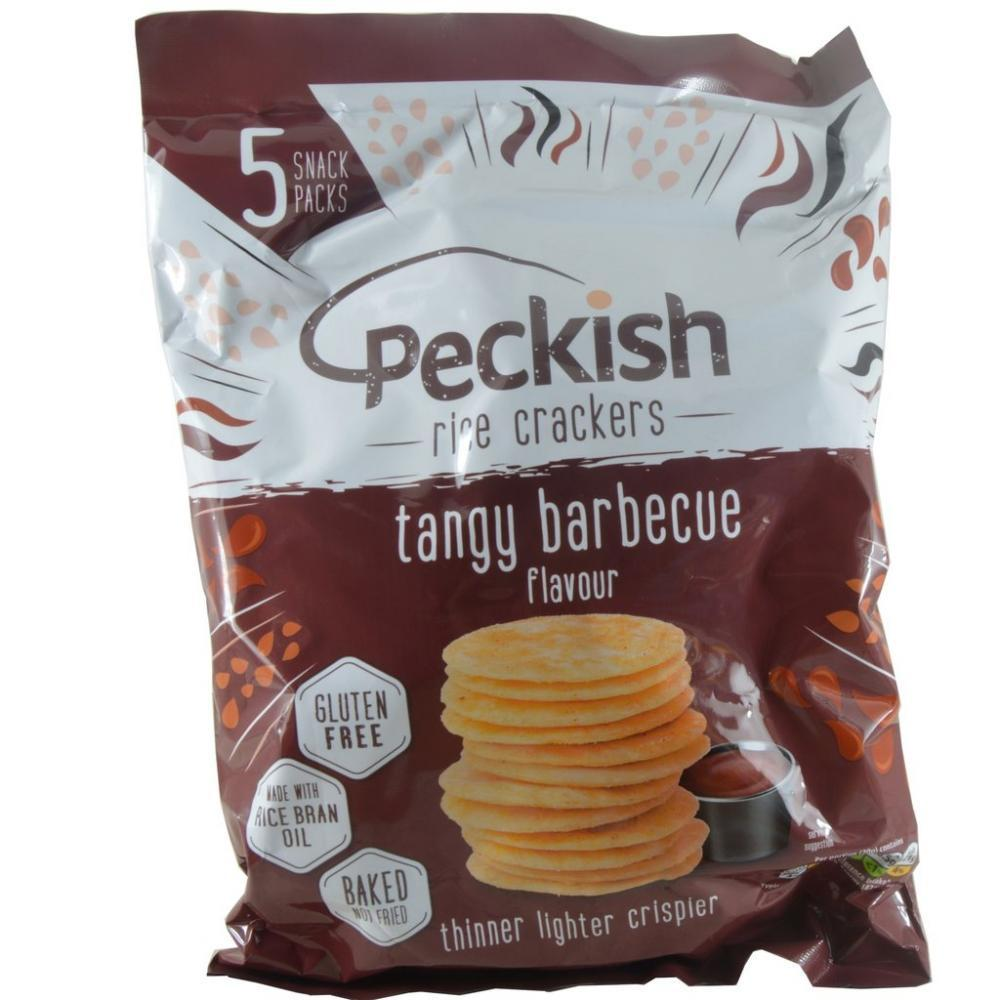 Peckish Rice Crackers Tangy BBQ Flavour 20g x 5