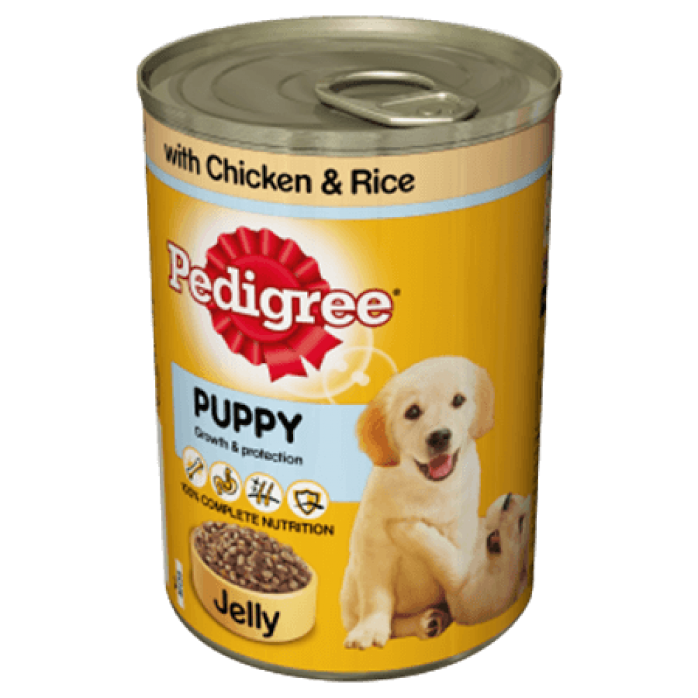 Pedigree Puppy Cans Mixed Selection in Jelly Lucky Dip 400 g
