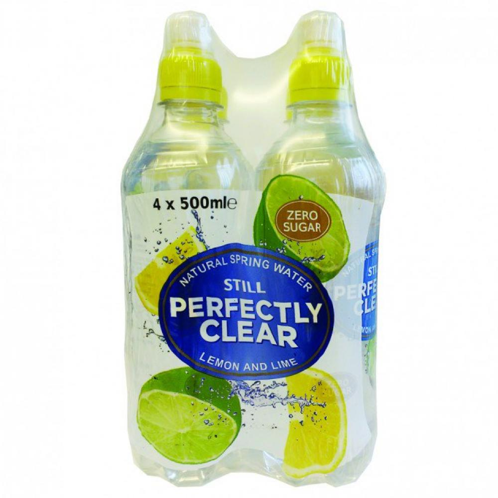 Perfectly Clear Still Lemon and Lime Natural Spring Water 500ml x 4