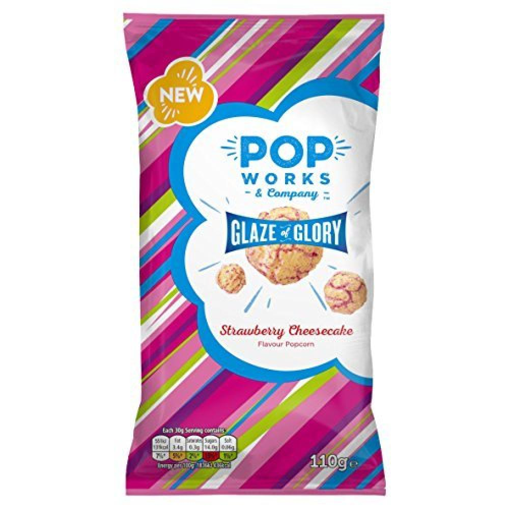 Popworks Strawberry Cheesecake Flavour Popcorn 110g