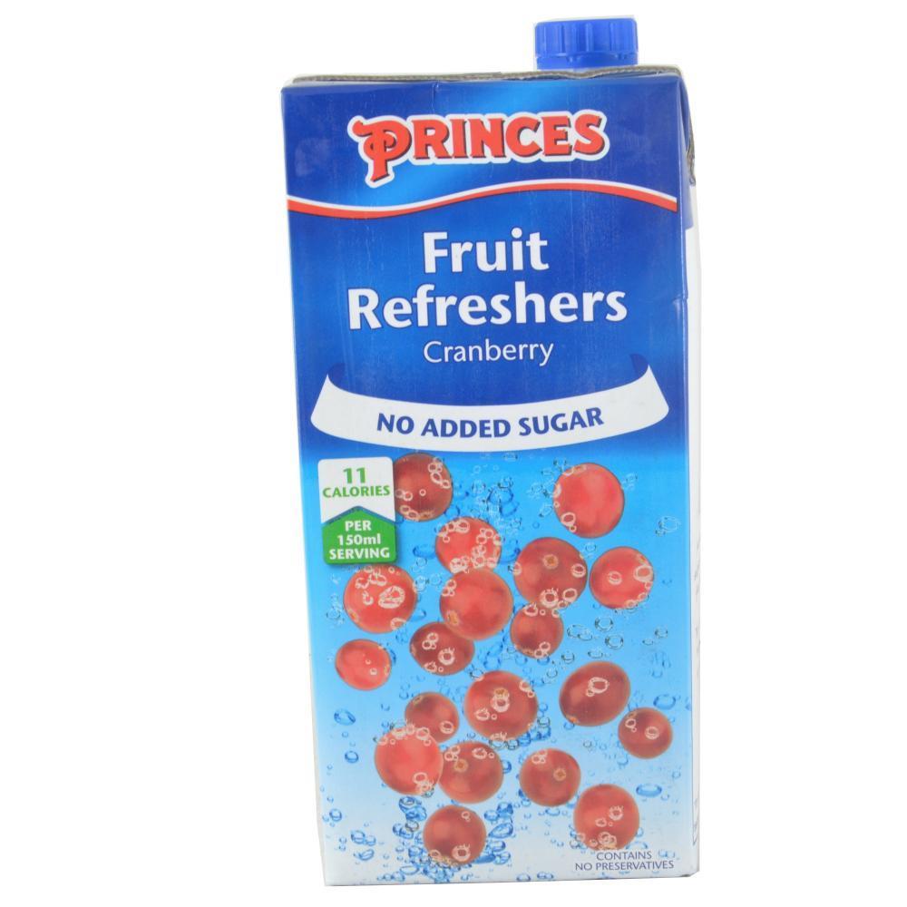 Princes Fruit Refreshers Cranberry Flavour 1l 1l