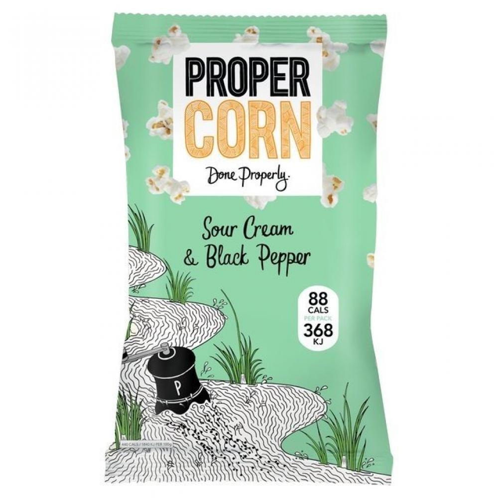 Propercorn Sour Cream and Black Pepper Popcorn 20g