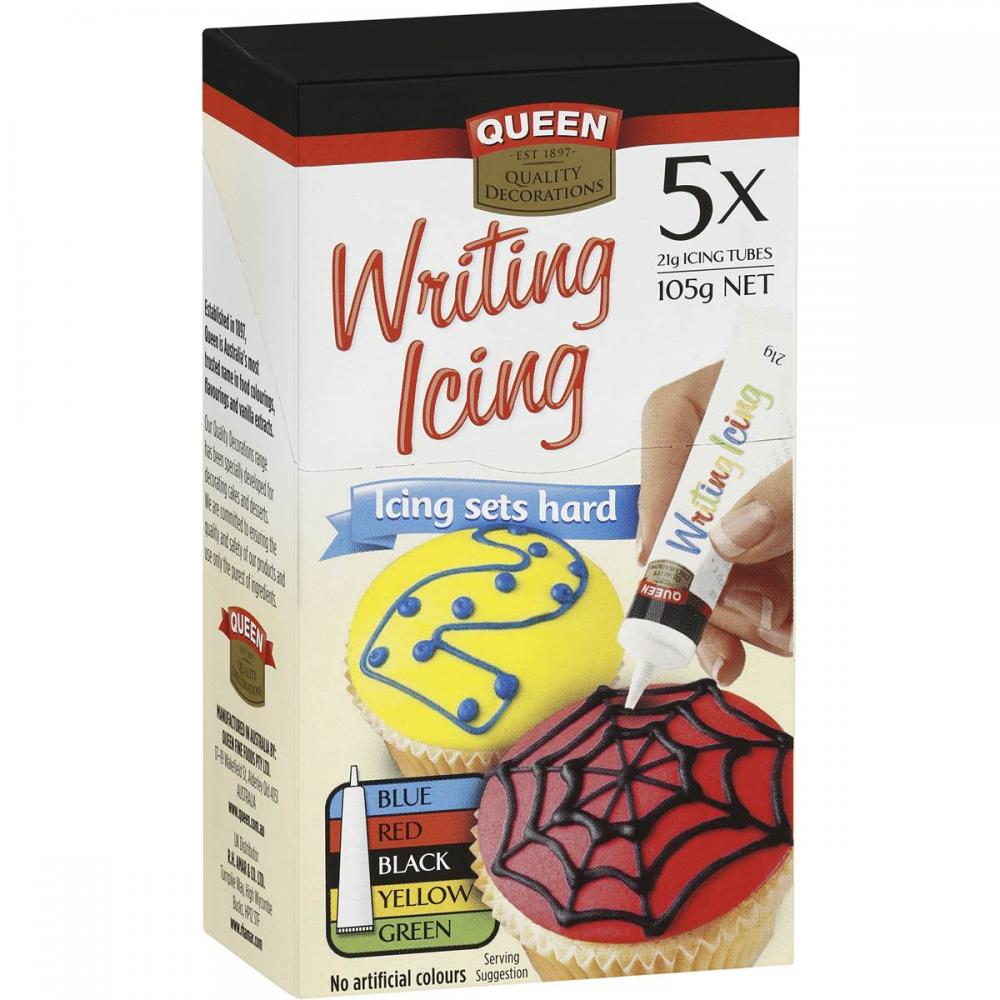 Queen Writing Icing 21g x 5