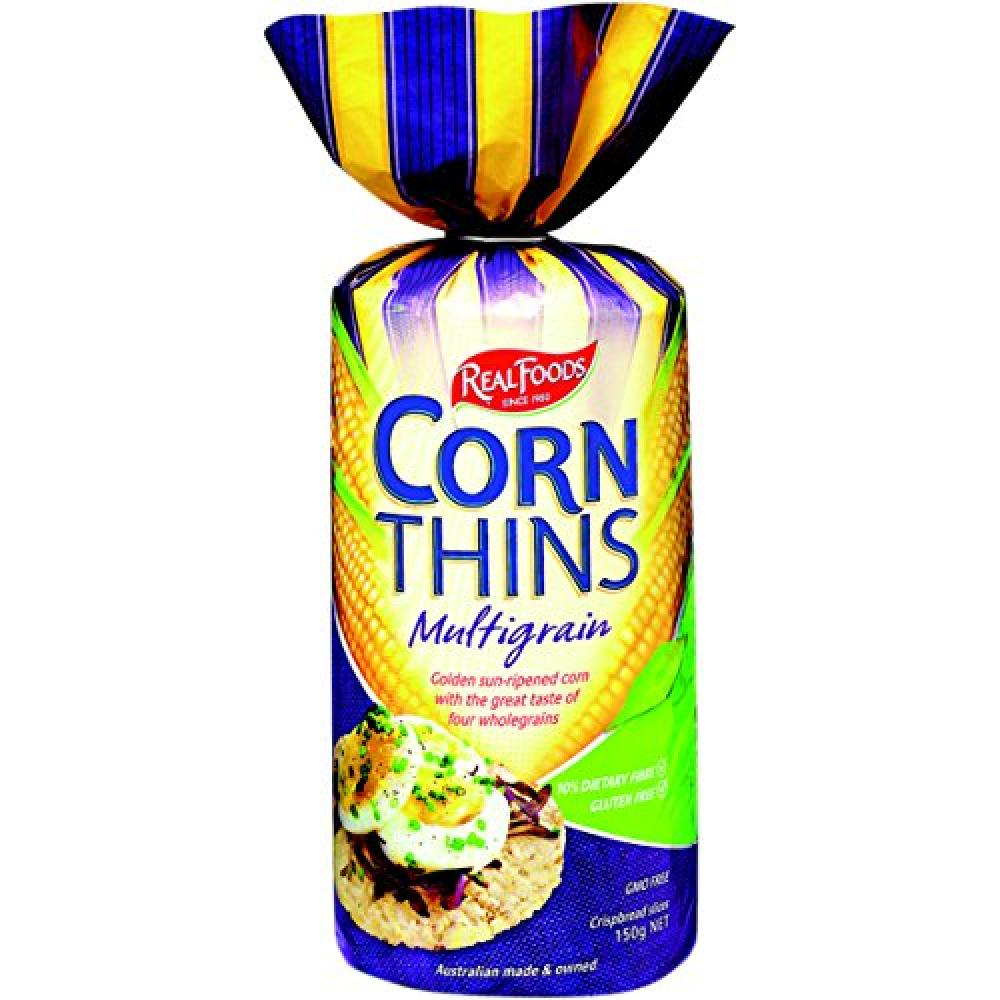 Real Foods Corn Thins Multigrain 150 g