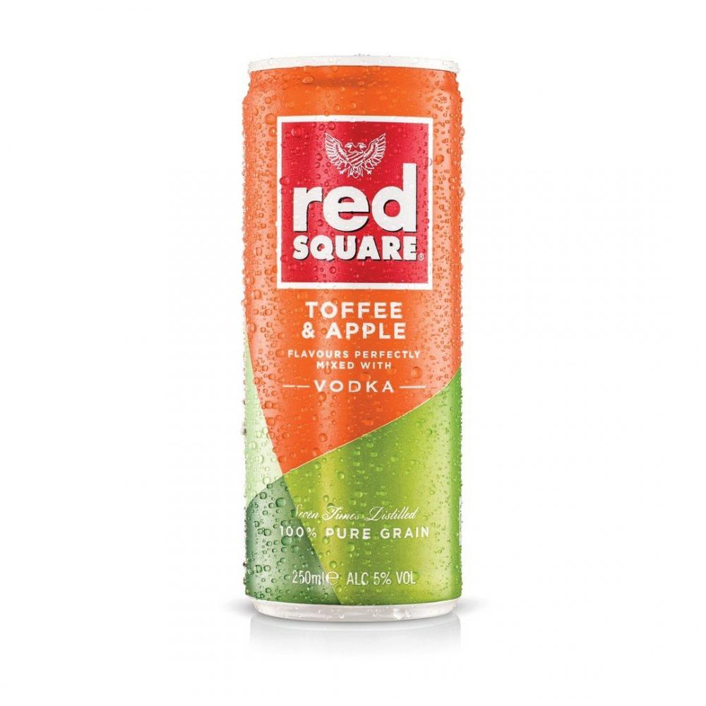 Red Square Toffee and Apple Premix Can 250ml