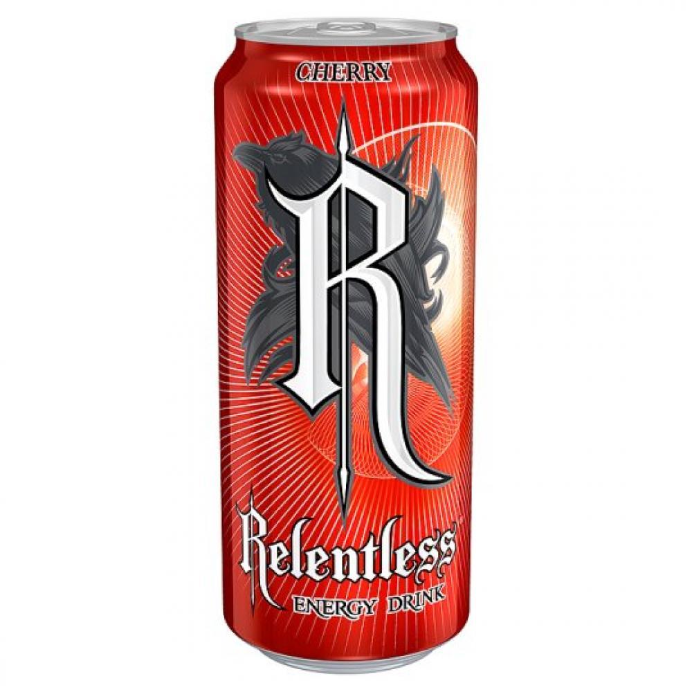 Relentless Cherry Flavour Energy Drink 500ml