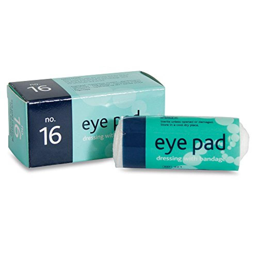 Reliance Medical Sterile Eye Pad Dressing Number 16 with Bandage in Box