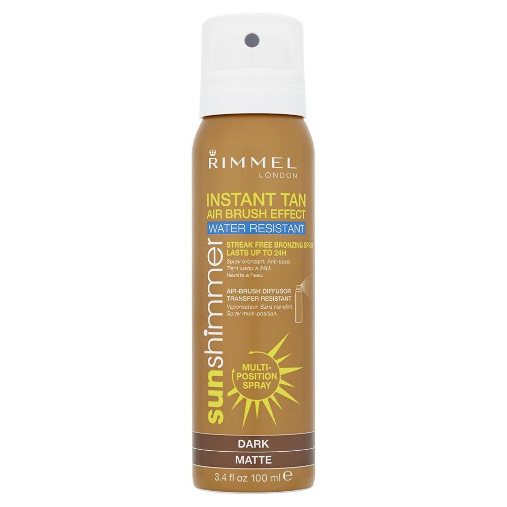 Rimmel Sunshimmer Instant Tan Airbrush Effect SprayDark Matte 100ml