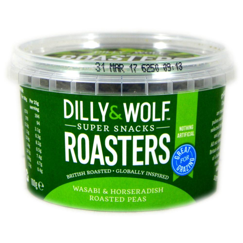 Dilly And Wolf Roasters Wasabi and Horseradish Roasted Peas 100g