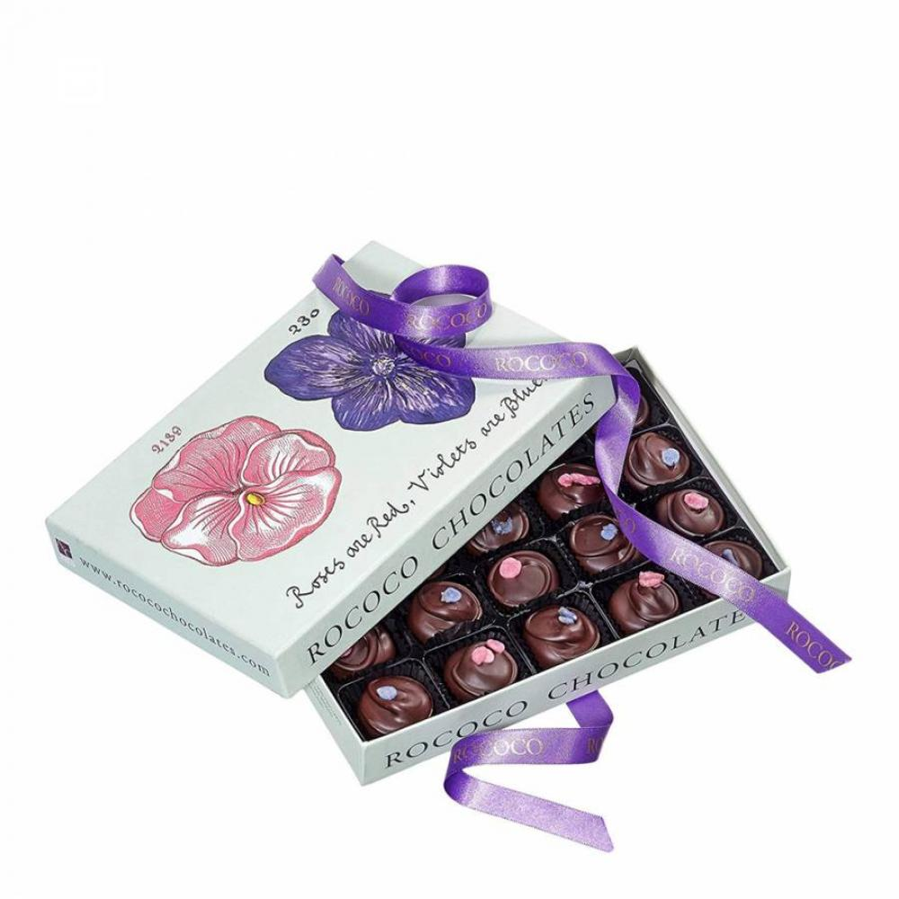 Rococo Chocolates Large Rose and Violet Creams 260g