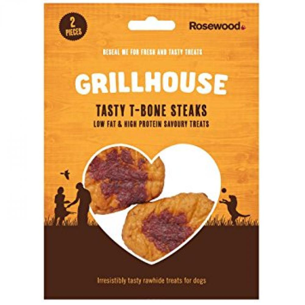 Rosewood Tasty T-Bone Steak Dog Treats 70g