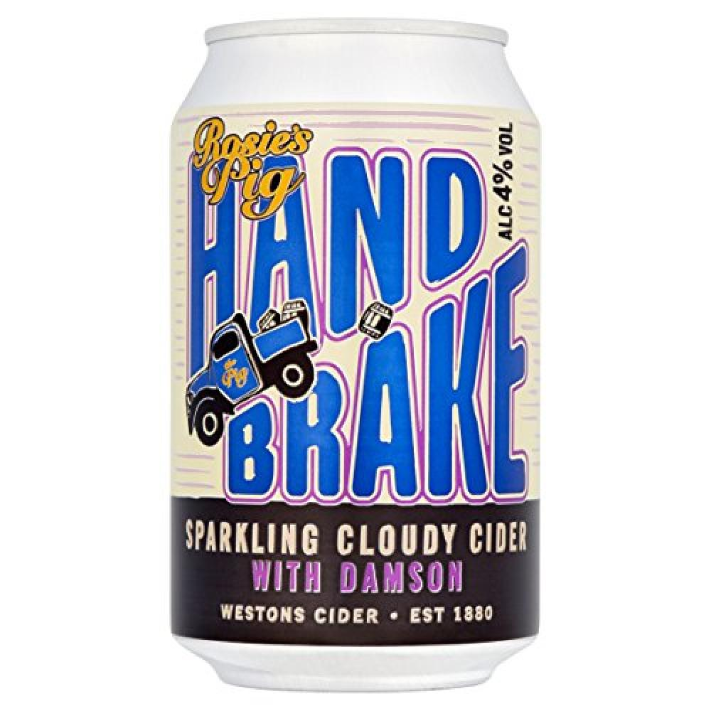 Rosies Pig Handbrake Cloudy Cider with Damson 330ml