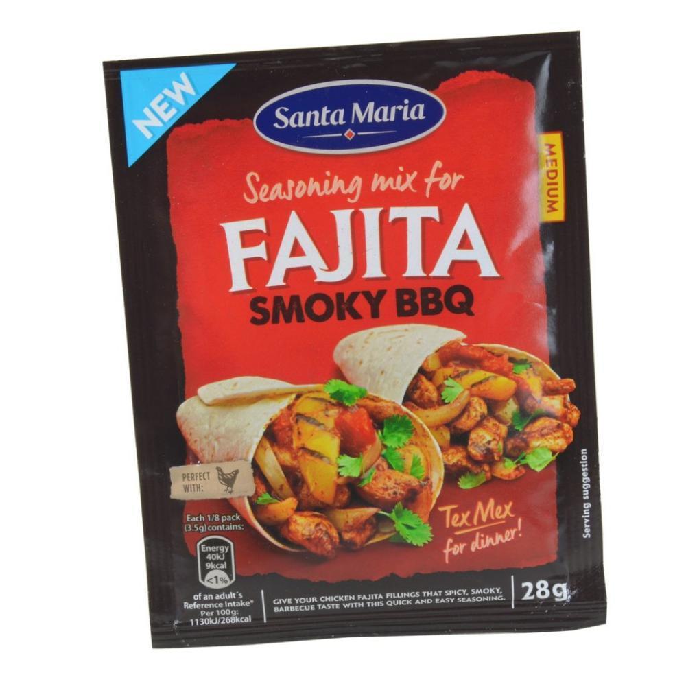 Santa Maria Fajita Smoky BBQ Seasoning Mix 28g