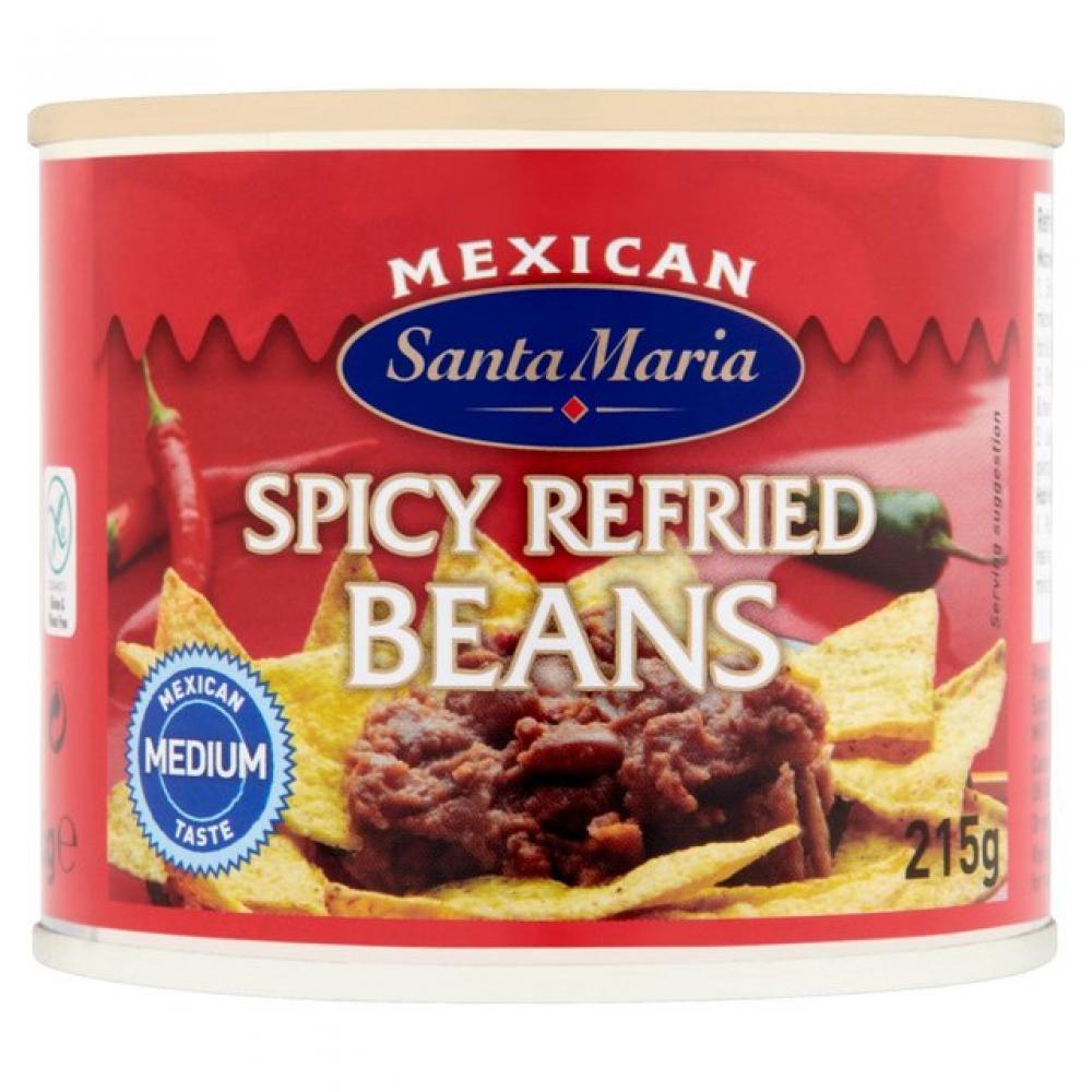 Santa Maria Spicy Refried Beans 215g