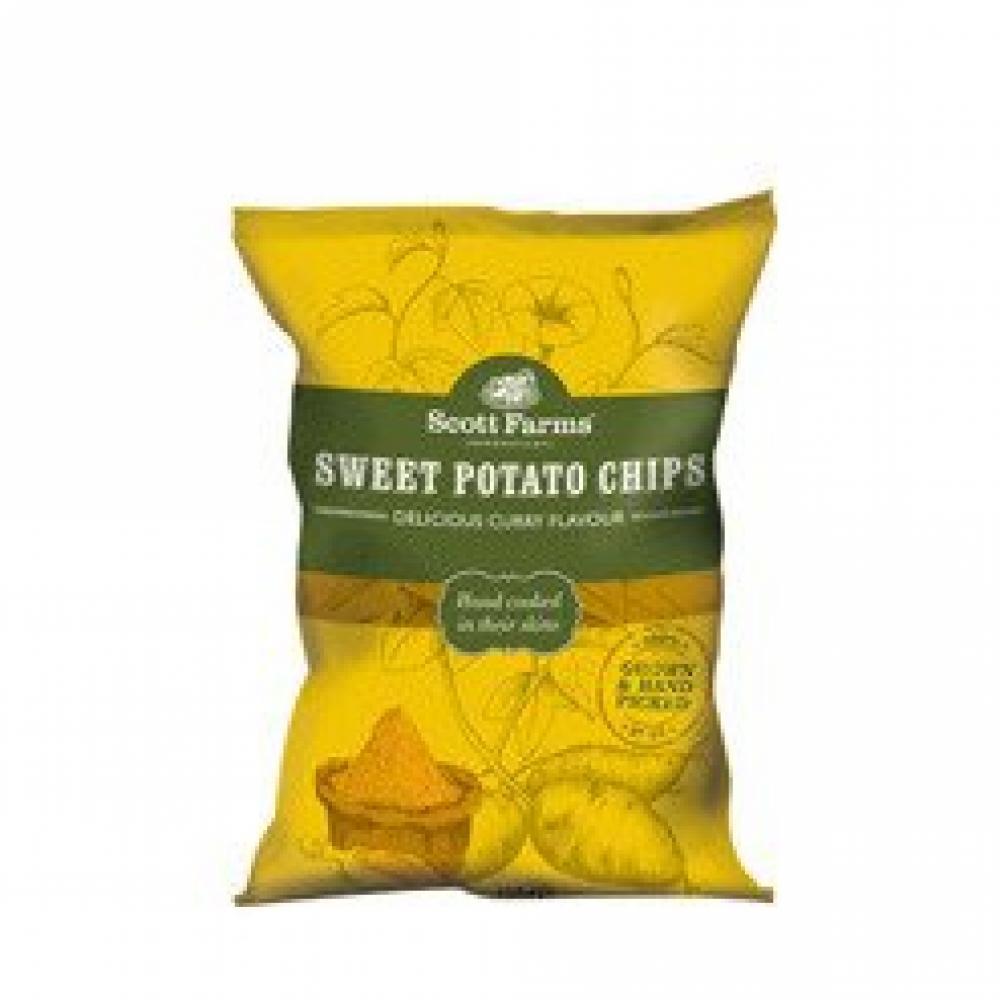 Scott Farms Sweet Potato Chips Curry Flavour 100g