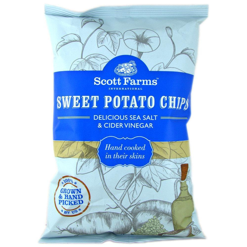 Scott Farms Sweet Potato Chips Delicious Sea Salt and Cider Vinegar 100g