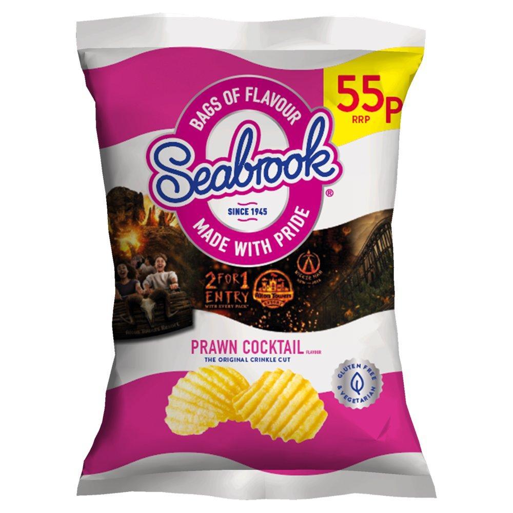 Seabrook Prawn Cocktail Flavour Crisps 31.8g