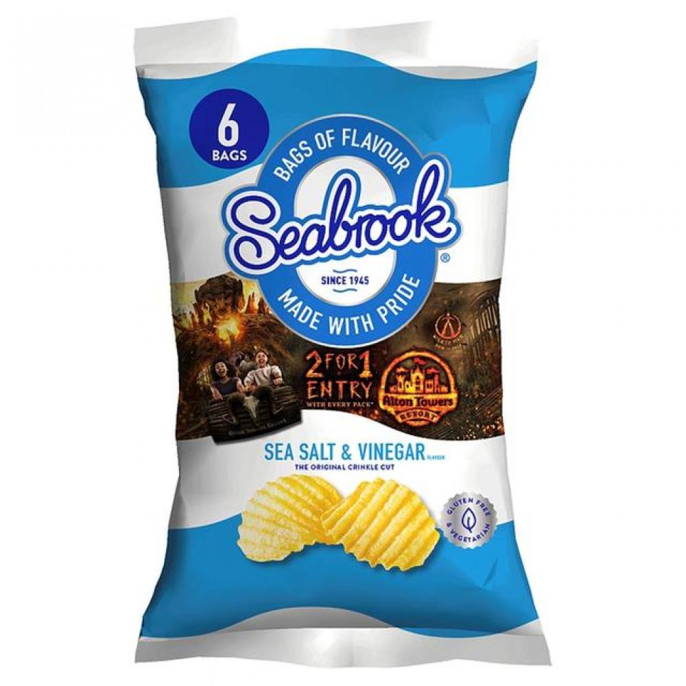 Seabrook Sea Salt and Vinegar Crisps 25g x 6
