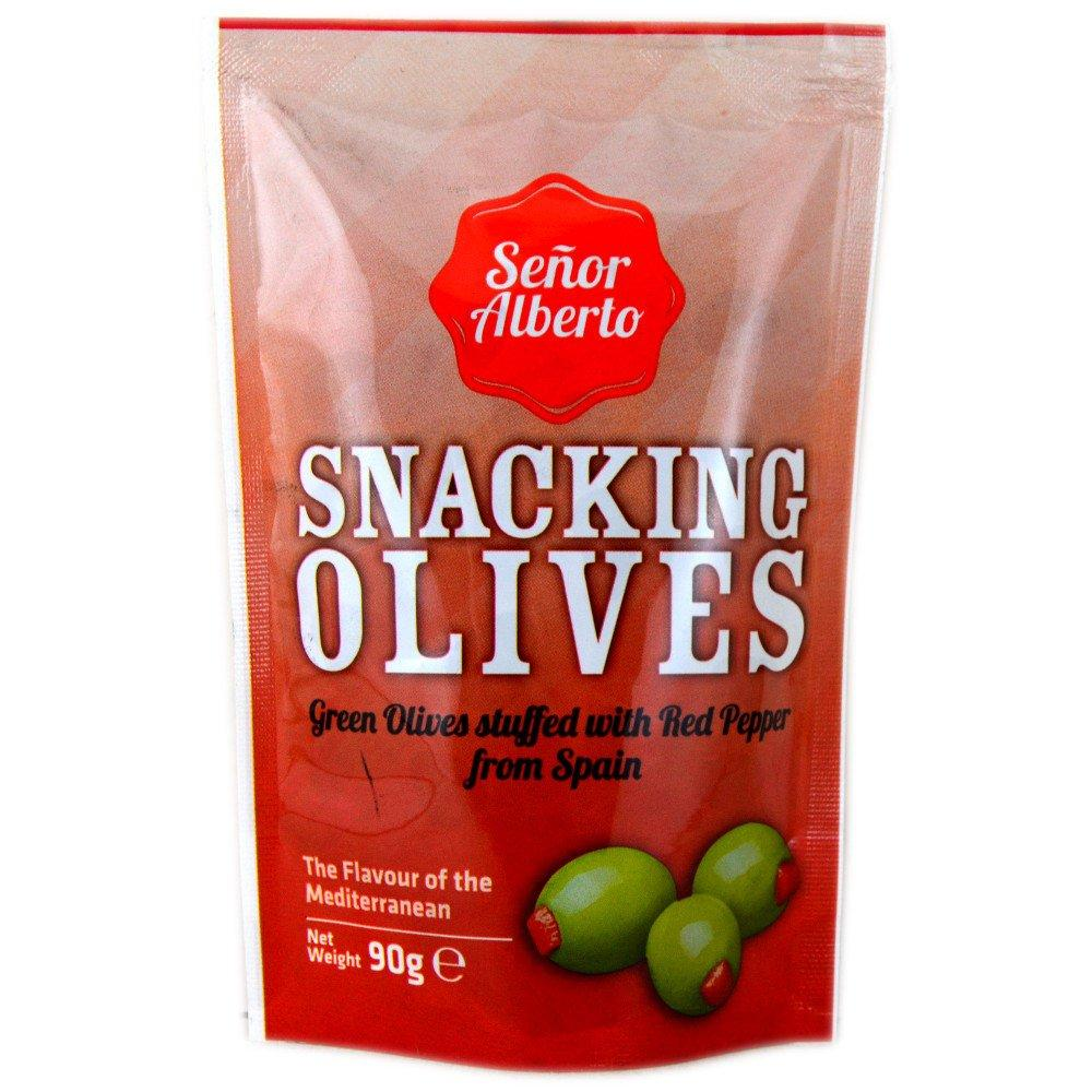 Senor Alberto Green Olives with Red Pepper 90g