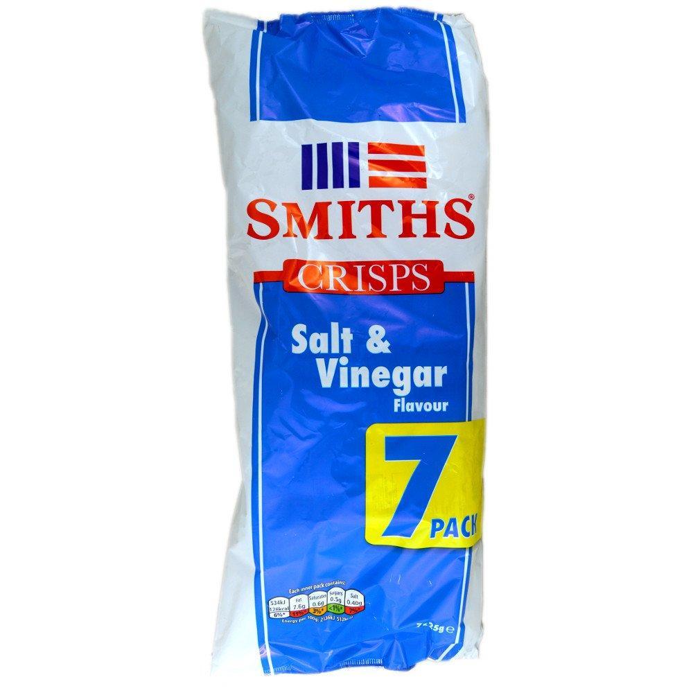 Smiths Salt and Vinegar Flavour 25g x 7