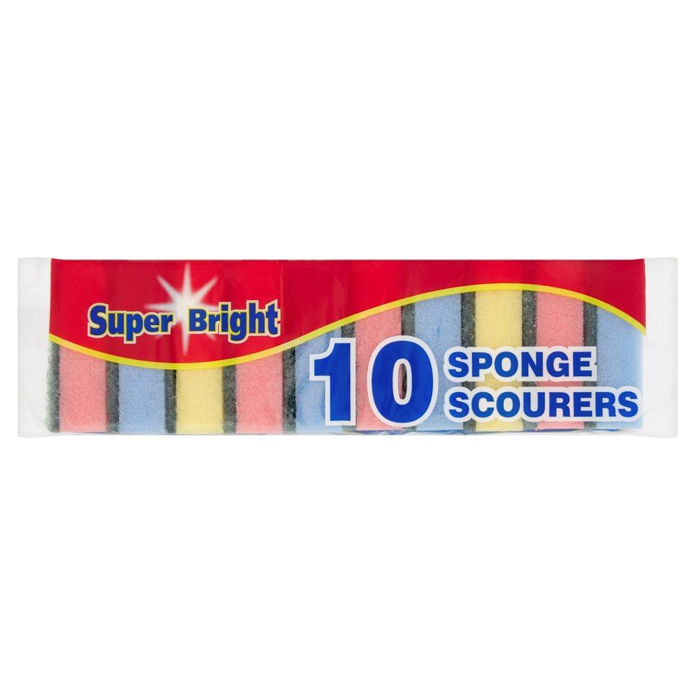 Super Bright 10 Sponge Scourers