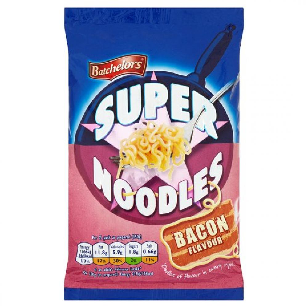 Batchelors Super Noodles Bacon Flavour 100g