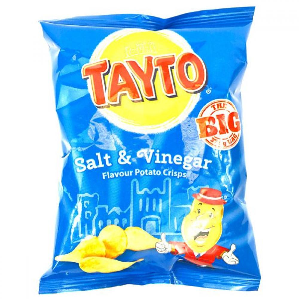 Tayto Salt and Vinegar Flavored Crisps 37.5g
