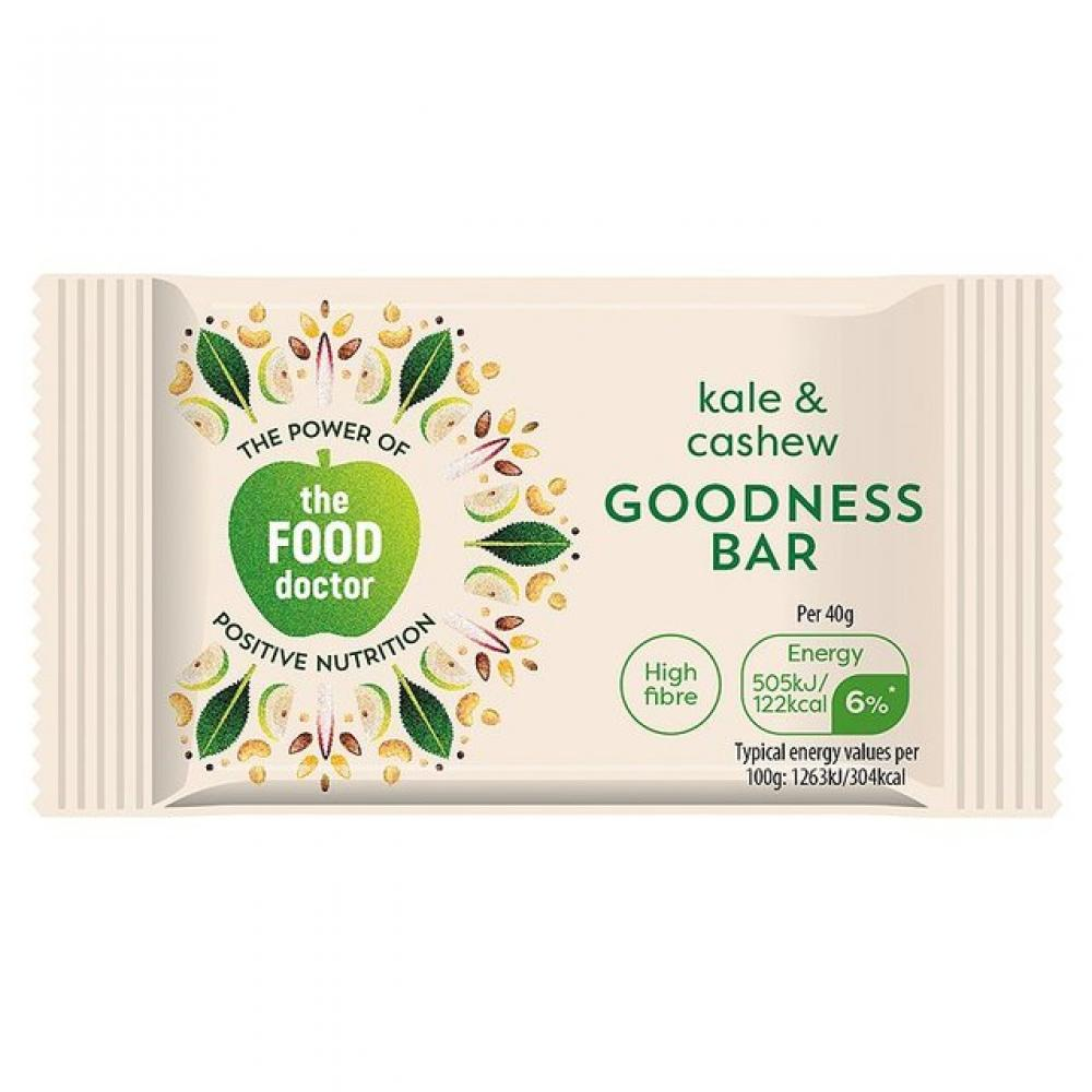 The Food Doctor Kale and Cashew Goodness Bar 40g