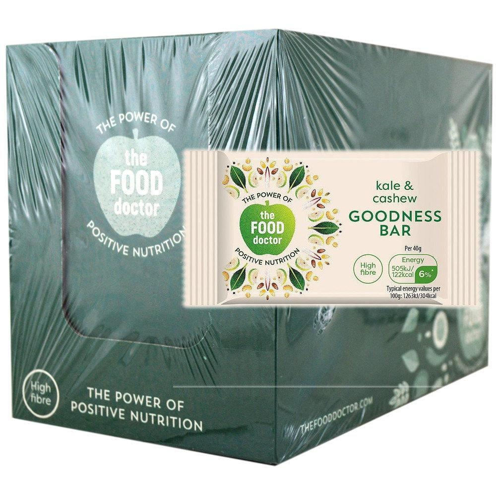 The Food Doctor Kale and Cashew Goodness Bar 40g x 20