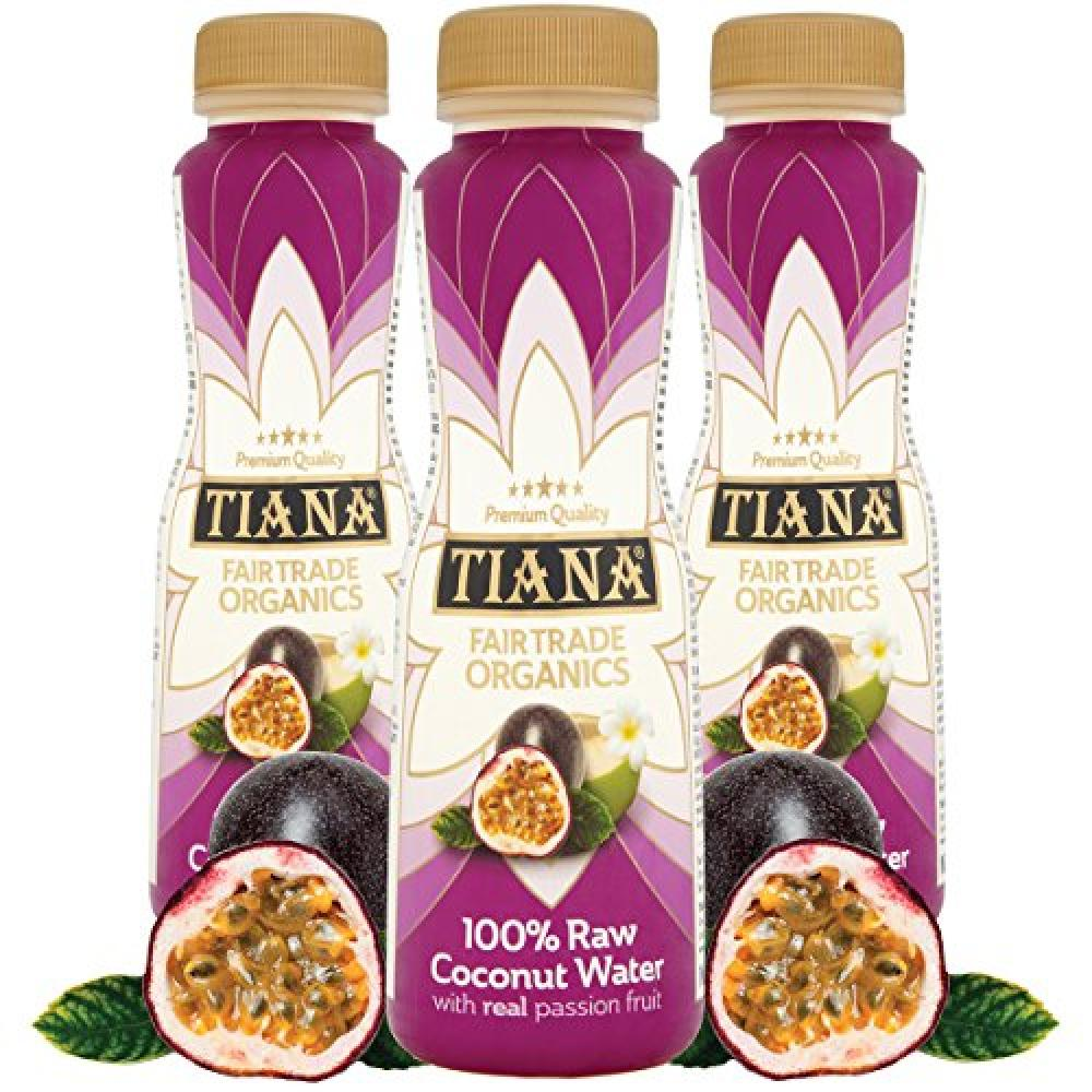 Tiana Raw Coconut Water with Real Passion Fruit 350ml