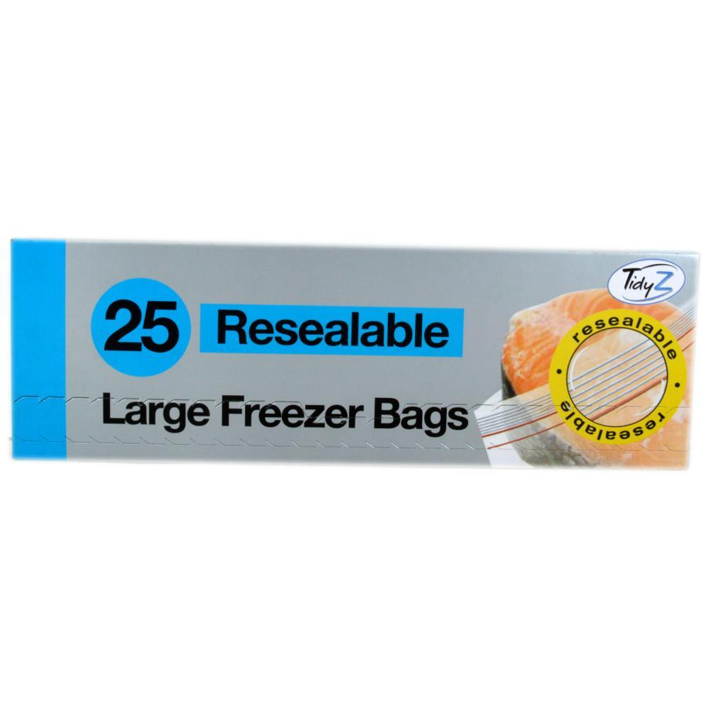 Tidy Z 25 Resealable Large Freezer Bags