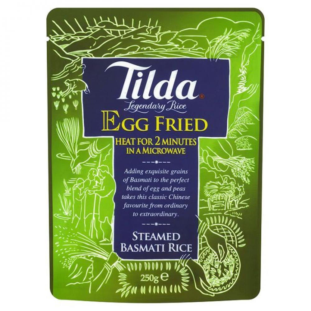 Tilda Egg Fried Steamed Basmati Rice 250g