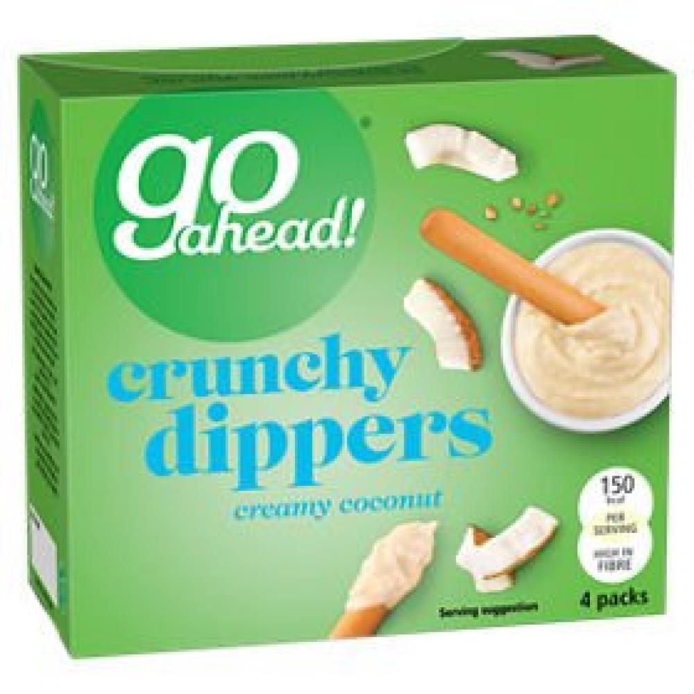 Go Ahead Crunchy Dippers Creamy Coconut 4 x 30g