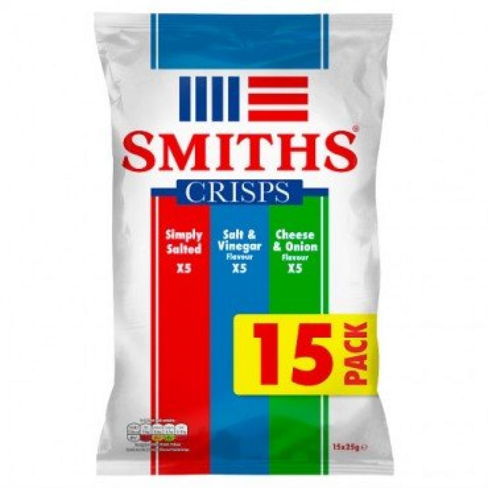 Smiths Variety Flavour Crisps 15 x 25g
