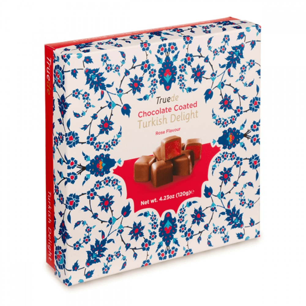 Truede Chocolate Coated Rose Turkish Delight 120g