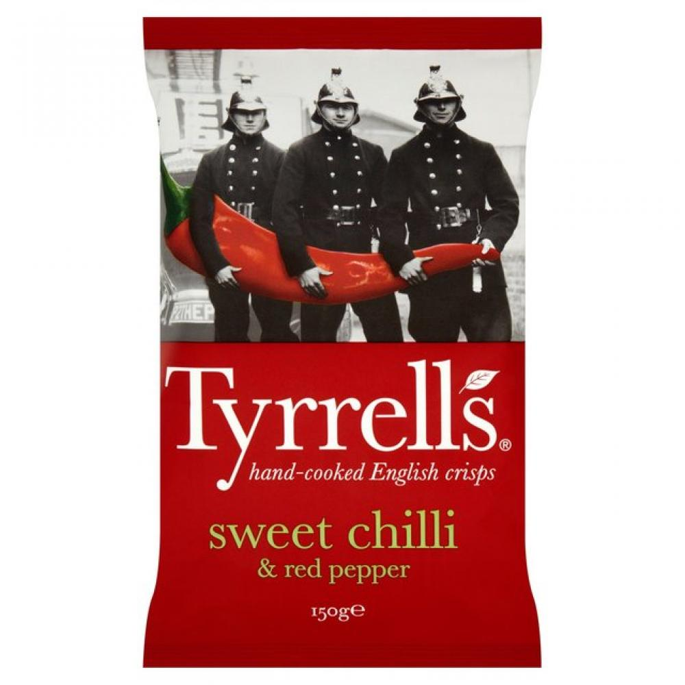 Tyrrells Sweet Chilli and Red Pepper Flavour Crisps 150g