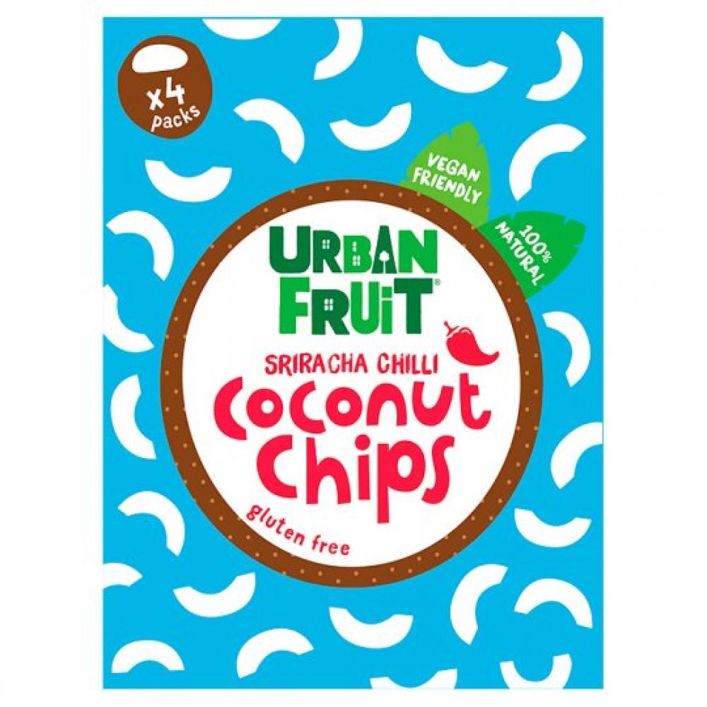 Urban Fruit Sriracha Chilli Coconut Chips 18g x 4