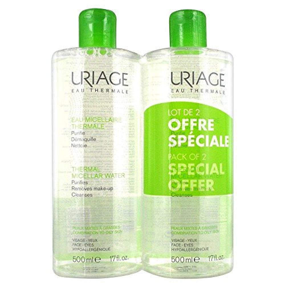 Uriage Thermal Micellar Water for Combination To Oily Skin 2x500ml
