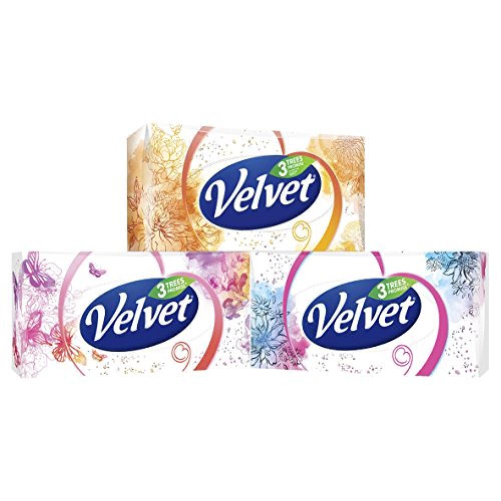Velvet Classic Three Ply Facial Tissues 80 tissues