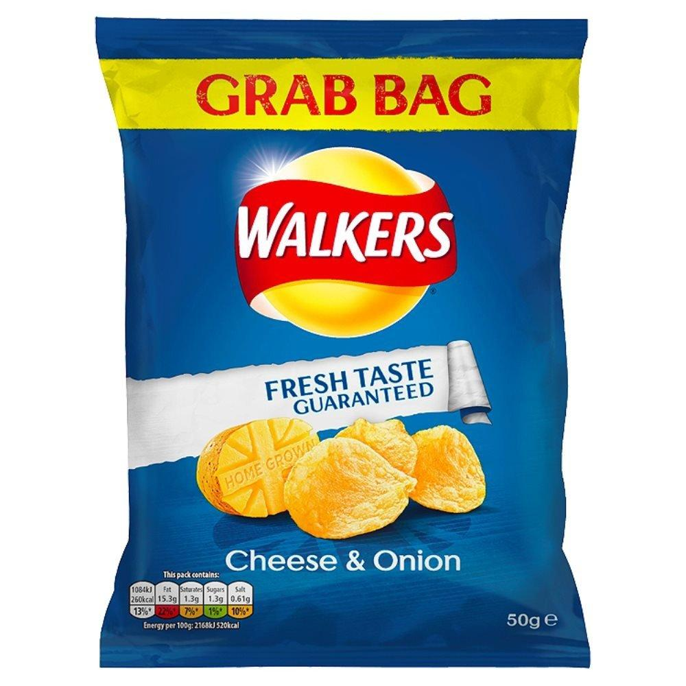 Walkers Cheese and Onion Flavour Crisps 50g