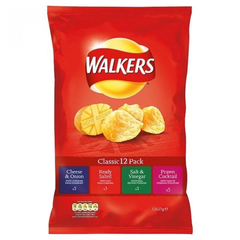 Walkers Classic Variety 12 x 25g