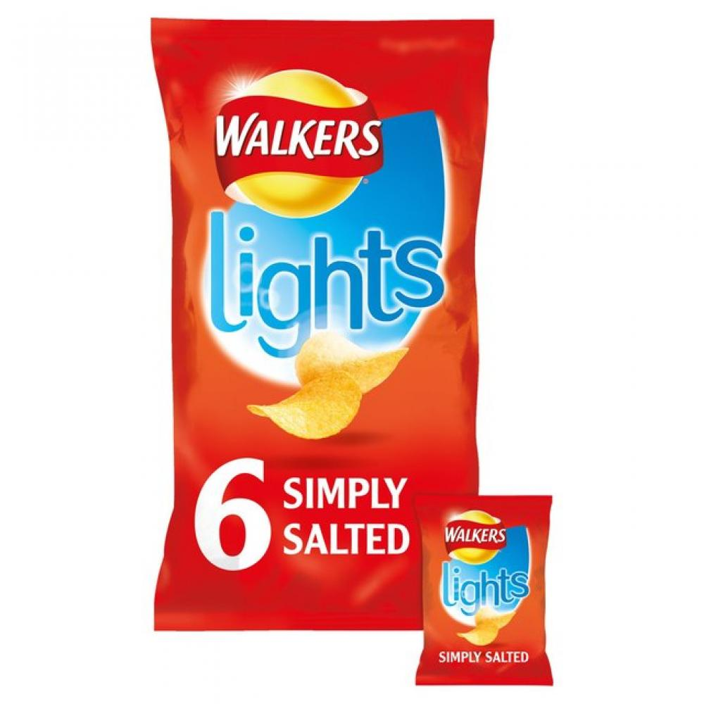 Walkers Lights Simply Salted 24g x 6