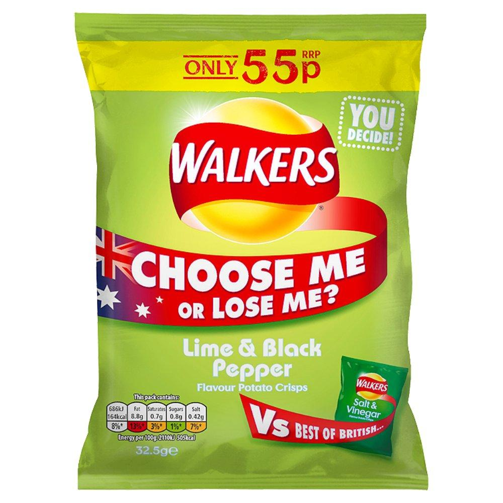 Walkers Lime and Black Pepper 32.5g