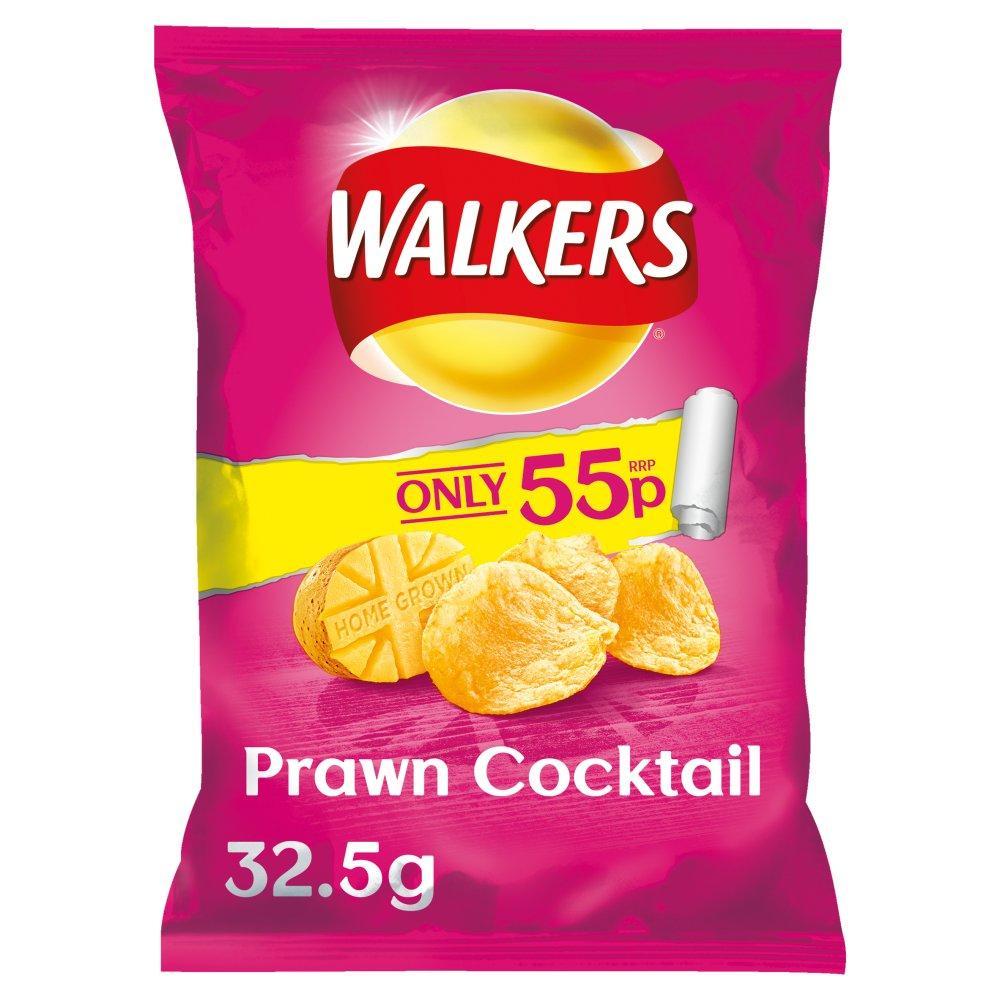 Walkers Prawn Cocktail Flavour Crisps 32.5g