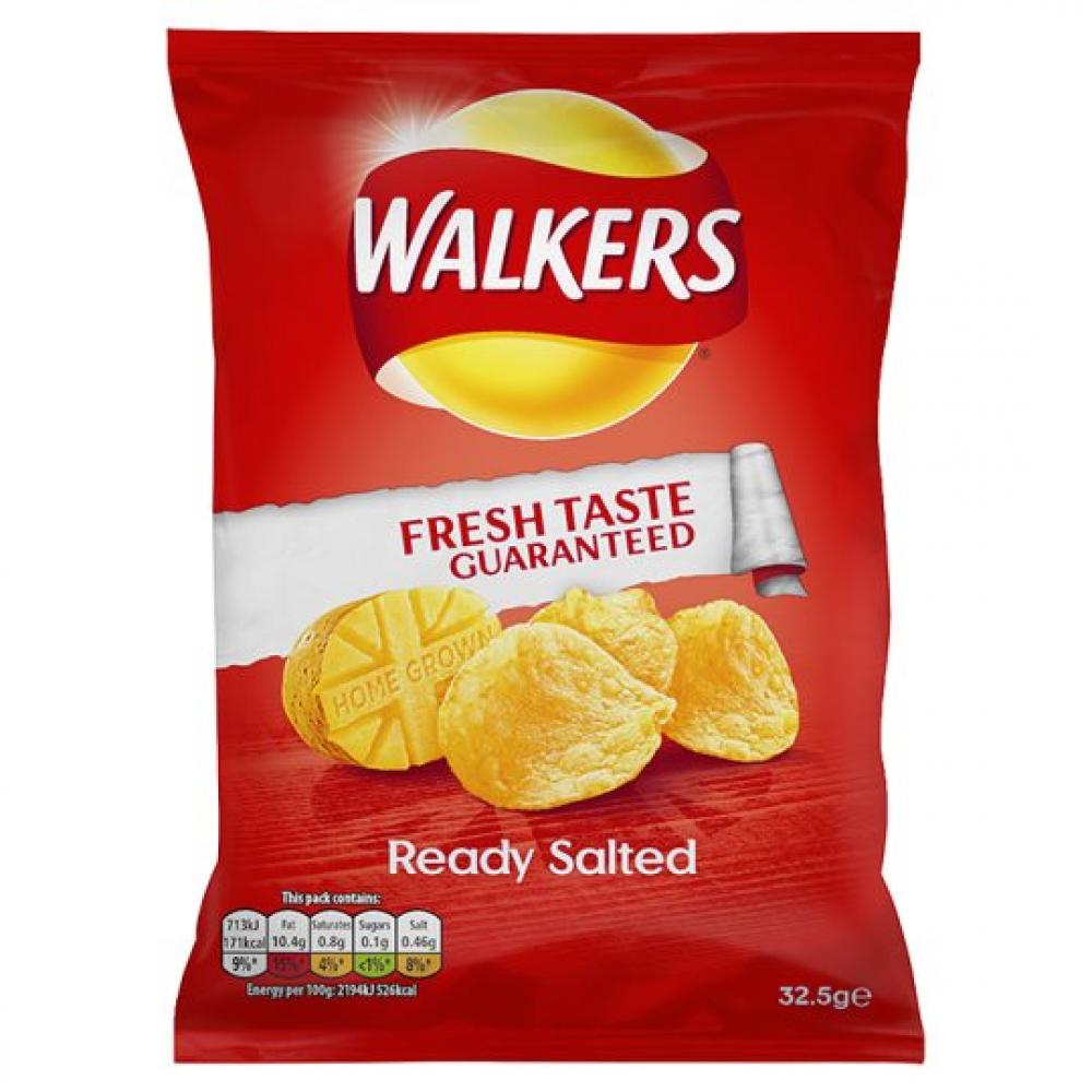 Walkers Ready Salted Flavour Crisps 32.5g