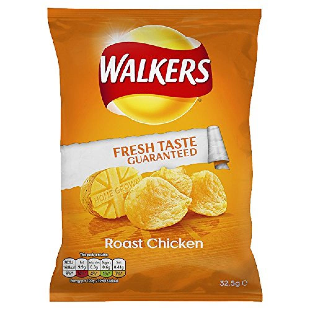Walkers Roast Chicken Flavour Crisps 32.5g