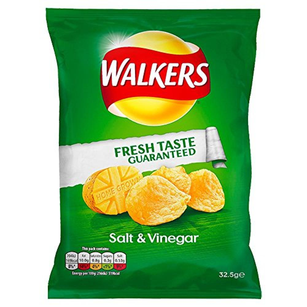 Walkers Salt and Vinegar Crisps 32.5 g