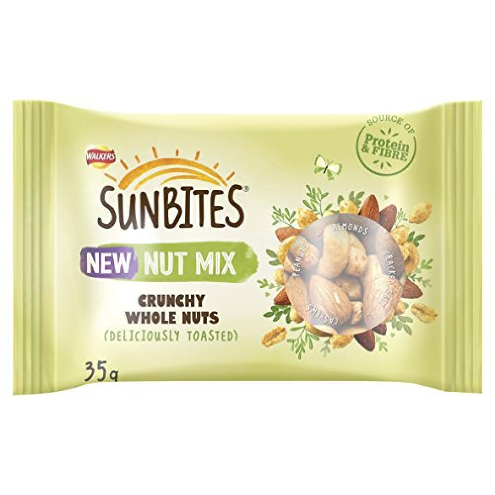 Walkers Sunbites Nut Mix - Crunchy Whole Nuts 35g